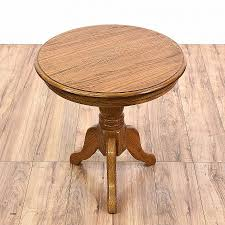 round oak end table amazing furniture tripod round wood accent table solid oak end