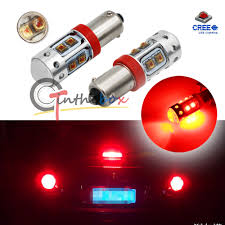 Ebay Led Lights 2pcs High Power Red 50w Cree 120 Bay9s H21w 64136 Car Auto Led