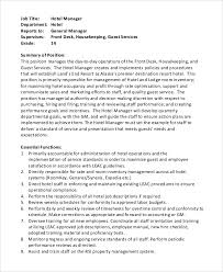 Food Service Job Resume by Service Manager Job Description Business Planning Manager Job