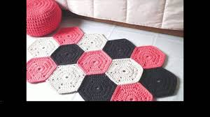 How To Crochet A Rug Out Of Yarn Easy Crochet Rug Patterns Free Rugs Ideas