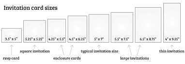 what is the standard wedding invitation size everafterguide