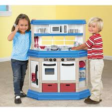 Pretend Kitchen Furniture by American Plastic Toys Cookin U0027 Kitchen With 22 Accessories