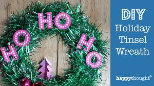 diy tinsel wreath how to make a holiday wreath decoration ho ho