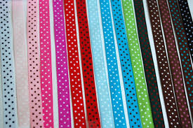 grosgrain ribbons femitu polka dot grosgrain ribbon 16 colors of 3 8