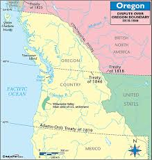 map of oregon country 1846 a territorial history of the united states establishing borders