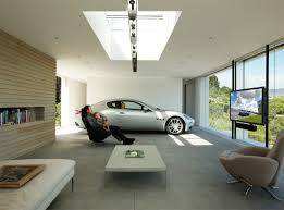 stunning garage interior with inside luxury design idea complete