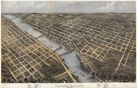 Aurora Illinois Map by Ruger U0027s Map Of Grand Rapids 1868