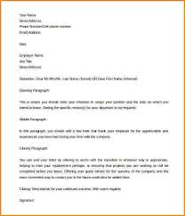 5 two week notice template word receipts template