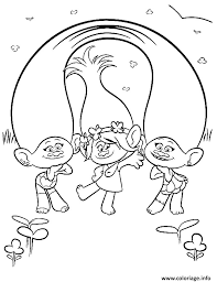Coloriage Popi Coloriage Poppy with Satin and Chenille From Trolls