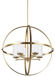 Seagull Chandelier Sea Gull Lighting Alturas Contemporary Five Light Chandelier