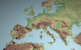 Topographic Map Of Europe by Low Polygon 3d Europe Map