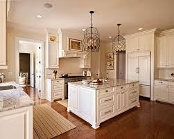 Antique White Cabinets And Granite Houzz - Antique white cabinets kitchen