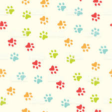 seamless paw print pattern stock vector art 165495639 istock