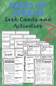 parts of speech task cards and activities make for a great