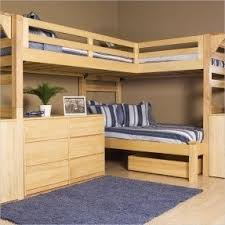 Plans For Making A Bunk Bed by Corner Loft Bunk Beds Foter