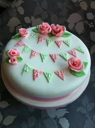 90th birthday cakes roses and bunting 90th birthday cake cake by