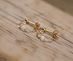 white opal earrings gold opal stud earrings white opal earrings opal jewelry tiny
