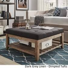 lennon espresso planked storage ottoman coffee table by inspire q