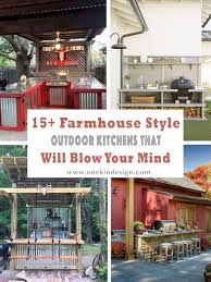 outdoor kitchen cabinet doors diy 15 farmhouse style outdoor kitchens that will your mind