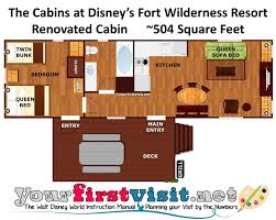 Camp Floor Plans Review The Cabins At Disney U0027s Fort Wilderness Resort