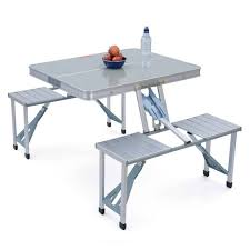 portable folding picnic table gelert aluminium portable folding cing outdoor bbq picnic table