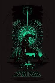 glow in the dark poster iron man glow in the dark poster