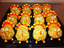 turkey rice krispie treats for thanksgiving golden oreo and