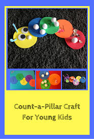 count a pillar caterpillar craft for kids the ever simple mom