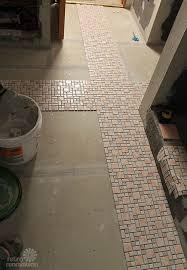 Installing Floor Tile Kate Installs Her Affordable Retro Bathroom Floor Tile Retro