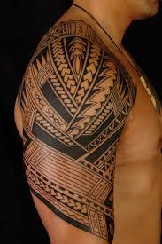attractive polynesian tribal on right half sleeve