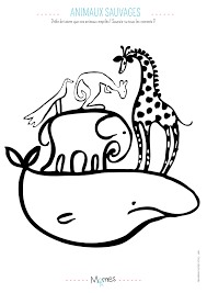 Coloriage animaux sauvage  Momesnet