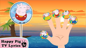 lollipop peppa pig kitty finger family nursery rhymes