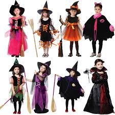 kids costumes black carnaval evil witch hat child kids costumes