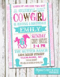 western cowgirl birthday invitation by meghilys on etsy 8 00