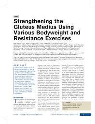 strengthening the gluteus medius using various bodyweight and