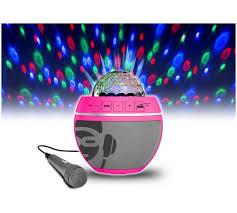 karaoke machine with disco lights buy idance bb10 disco lights bluetooth karaoke machine pink