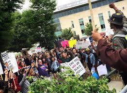 black friday in boston demonstrators gather in boston in reaction to deadly week of