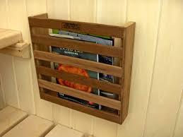 wall mounted magazine rack plans