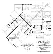 the hall springs cottage house plans by garrell associates inc