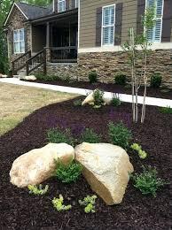charming cream round antique stone landscaping rock designs
