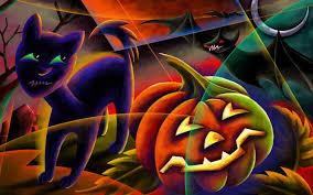 halloween cat background deviantart free wallpapers for halloween group 80