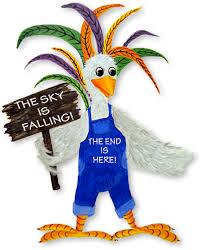 sky falling letter chicken u0026 fearful flock