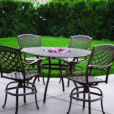discount cast aluminum patio furniture darlee sedona 5 piece cast aluminum patio counter height bar set
