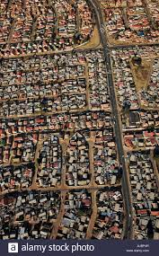 aerial view of low cost housing stock photo royalty free image