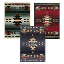 Lodge Style Area Rugs Rustic Southwestern 5x8 Arrows Lodge Style Cabin Area Rug Actual