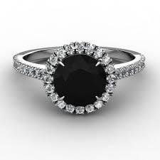 black diamond dakota halo black diamond engagement ring aaa grade