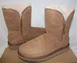 ugg s florence chestnut suede boots size 11 with box ebay