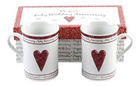 40th wedding anniversary gifts 40th ruby wedding anniversary gift set ceramic mugs by