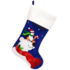 24 inch personalized and velvet stocking with polar