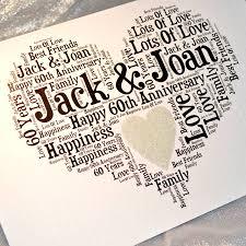 60 wedding anniversary personalised 60th wedding anniversary sparkle card 60